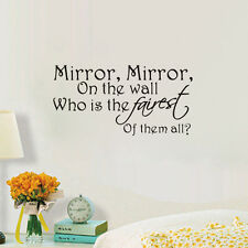 MIrror Mirror On The World Quote Home Wall Sticker Bathroom Decorative Decal
