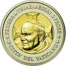 [#710566] Vatican, Médaille, 2 E, Essai-Trial Jean Paul II, 2002, FDC