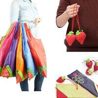 Fashion Cute Eco Handbag Strawberry Foldable Shopping Bags Reusable Bag Tote