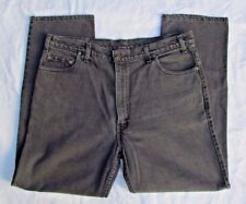 Vintage Mens Levis 540 Relaxed Fit Straight Leg Jeans Black 40X30 USA Made