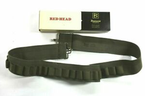 VTG Redhead Brunswick Army Green Adjustable 25 Round Shotgun Shell Ammo Belt