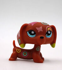 Littlest Pet Shop LPS  Brown Dachshund  Dog Butterfly Tatoo Gift Toy