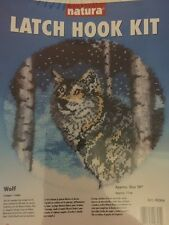 natura latch hook kit Wolf USA national yarn Crafts brand new factory sealed