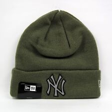 New Era Men's MLB New York Yankees Night Ops Vert Olive Cuff Knit Beanie Hat