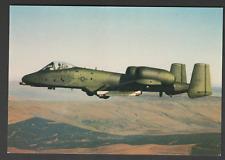 POSTCARD Aircraft FAIRCHILD A. 10 THUNDERBOLT of UNITED STATES AIR FORCE