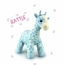 KORIMCO TWINKLES GIRAFFE WITH RATTLE BNWT PINK OR BLUE 16CM / 6.5 INCHES