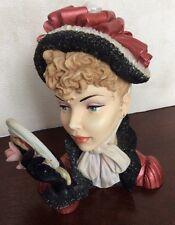 Cameo Girl Deluxe Judith 1875 Victorian Valentine ❤️Lady Head Vase Retired 2002