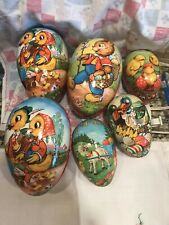 Vintage Lot Easter Paper Mache West Germany Lot Of Easter Eggs