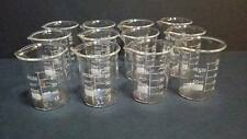 50 ml borosilicate glass graduated beakers (Set of 12)