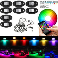RGB LED Multi-Color Offroad Rock Lights Wireless Bluetooth Truck Jeep party lamp