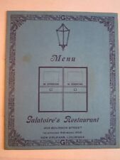 "VINTAGE GALATOIRE'S RESTAURANT MENU - 7 1/2"" X  9 1/4"" CLOSED MENU -TUB BN-14"