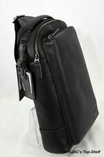 Tumi New Harrison Emerson Black Leather Shoulder Sling/Backpack 63010D
