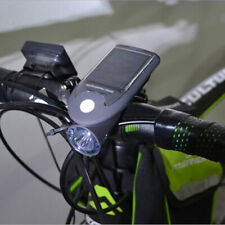 Bike Bicycle LED Solar Power USB Rechargeable Front Head Light Headlight Lamp