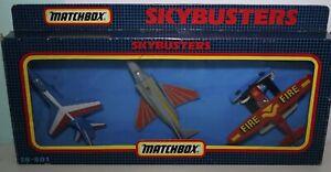 MATCHBOX SKYBUSTERS - SB-801 3 planes - INC ORIGINAL BOX - 1991
