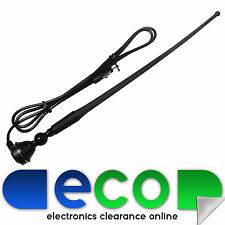 Fiat Car Stereo Radio Rubber Mast Universal Wing Roof Black Antenna Aerial