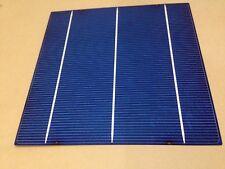 50 PCS 4.23W Polycrystalline Solar Cells 17.4% Effi 6x6 3bb 156x156 poly A cell