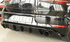 Rieger CUP Diffusor SCHWARZ für Golf 7 GTI Facelift Heck Ansatz Stoßstange