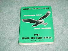1961 NFL Record and Rules Manual Football Media Guide Philadelphia Eagles Cover