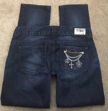"GUESS PREMIUM DENIM Jeans DAREDEVIL SKINNY Stretch Low Rise sz 31 34"" W SHORT"