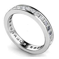 Fabulous 1.00Ct Princess Diamond Channel Set Full Eternity Ring in 9k White Gold