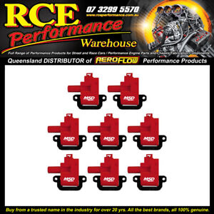 Red MSD 82628 Blaster LS Coil For 98-06 GM LS1/LS6 Eng 8pk(red Vers Of 826283)
