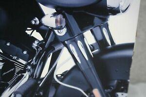 Harley Davidson Touring Edge Cut Tauchrohrabdeckungen Oben