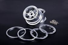 Alloy CNC Rear wheel hub Silver for HPI Baja 5B