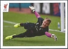 PANINI LIVERPOOL STICKER-2014/15- #104-SIMON MIGNOLET DIVES IN TRAINING