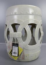 Safavieh Design Hocker Keramik Ø33 x H43cm Elfeinbeinweiß Beistelltisch PS1-SA