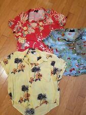 EUC lot of 3 womens button down shirts short sleeve size L, XL