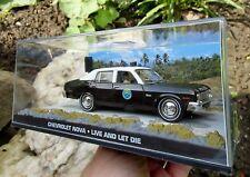 "007 JAMES BOND Chevrolet Nova Police Car ""Live and let Die"" 1:43 BOXED CAR MODEL"