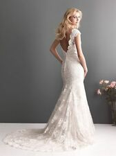 White-Ivory-Off-shoulder-Lace-Mermaid-bridal-Wedding gown any size USA seller