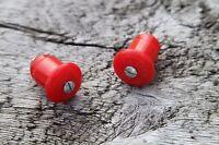 MILREMO handlebar end plugs NOS RED