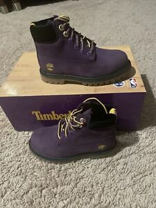"NIB Toddlers Timberland 6"" premium TB0A2936 527 LOS ANGELES LAKERS boot sz 11C"