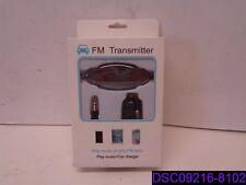 MoKo FM Transmitter Black Radio Adapter Car Kit w 3.5mm Audio Plug