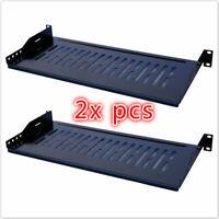 """2 Pack Cantilever Server Shelf Rack Mount 19"""" 1U 8""""(210mm) Deep"""