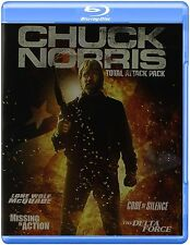 CHUCK NORRIS : TOTAL ATTACK PACK (4 movies) Blu Ray - Sealed Region free for UK