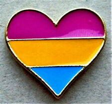 BEAUTIFUL HEART RAINBOW LAPEL METAL PIN BADGE LGBT GAY LESBIAN DIVERSITY PRIDE