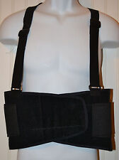 Heavy Lift Back Support Belt & Waist Brace w Adjustable suspenders Size Medium