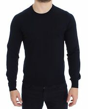 NWT $600 DOLCE & GABBANA Blue Crewneck Wool Sweater Pullover Top s. IT46 / S