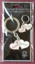 Puppy Love Dog Keychain & Charm Set