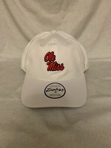 Ole Miss Rebels NCAA Zephyr One Size Soft Dad Hat White Brand New