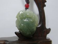 "1.6""China Certify Jewelry Nature Hisui Jadeite Jade Wealth Pixiu & Melon Pendant"