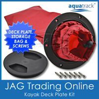 KAYAK DECK PLATE & STORAGE BAG - AquaTrack Inspection Port Kit -Canoe/Boat/Hatch