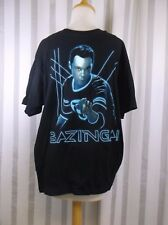 The Big Bang Theory Glowing Sheldon Bazinga T Shirt Large Black Blue new