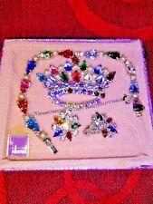 B David Crown Brooch, Earrings and Bracelet w/ Box. Stunning!