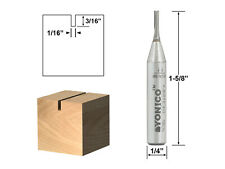 "1/16"" Diameter Carbide Insert Straight Router Bit - 1/4"" Shank - Yonico 14002q"