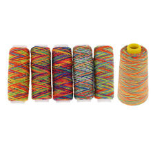 6pcs Colorful Polyester Sewing Thread for Leather Canvas DIY Stitching Craft