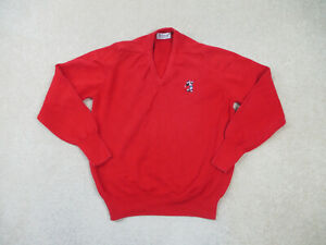 Titleist Sweater Adult Medium Red Mickey Mouse Pullover Golfer Golf Mens *