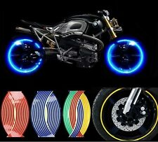 Motorcycle Styling Wheel Hub Rim Stripe Reflective Decal Stickers Safety Reflect